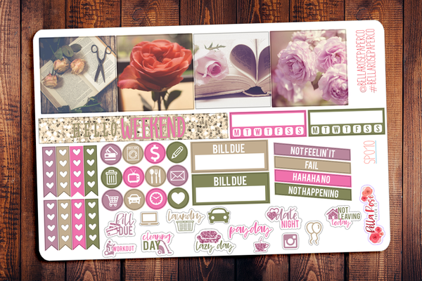 Rose Photography Mini Happy Planner Sticker Kit SP010