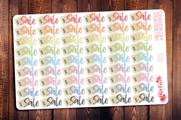 Sale Lettered Planner Stickers DI055