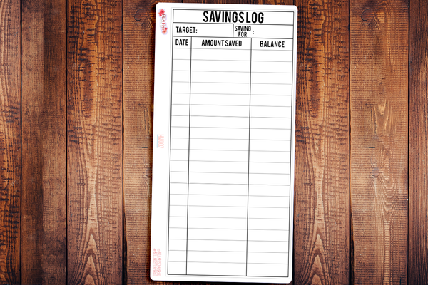 Savings Log Hobonichi Weeks Full Page Sticker HWI002