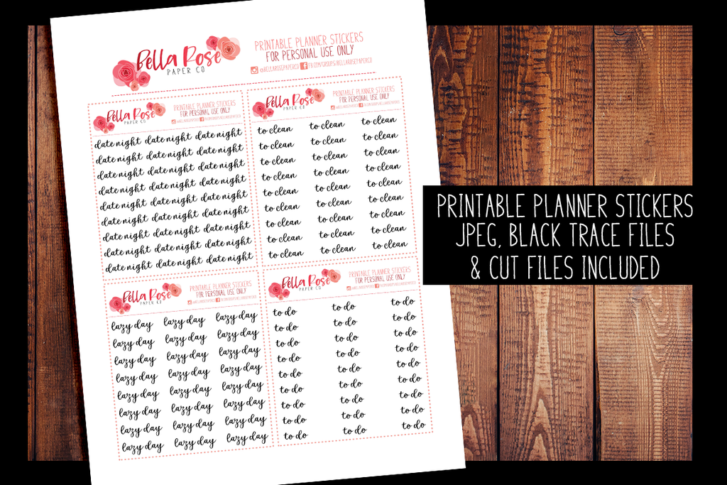 Script Planner Stickers 009-012 | PRINTABLE PLANNER STICKERS