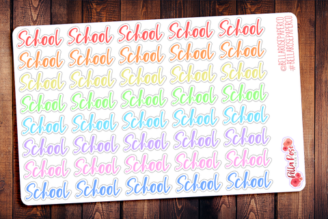 School/Student Lettering Planner Stickers S015