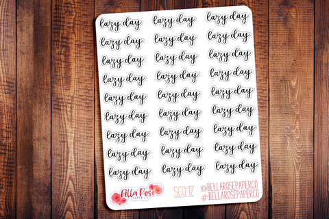 Lazy Day Planner Stickers SC012