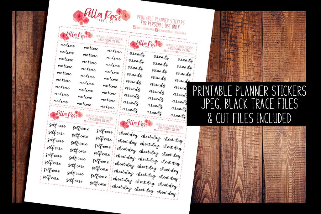 Script Planner Stickers 013-016 | PRINTABLE PLANNER STICKERS