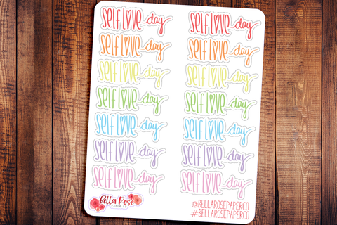 Self Love Day Doodle Hand Drawn Planner Stickers