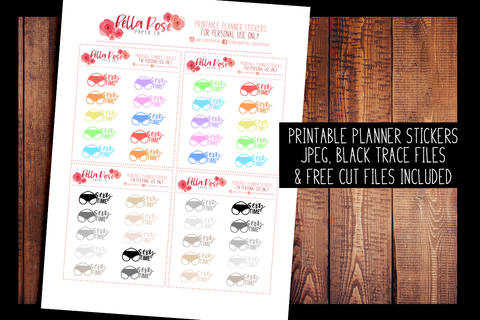 Sexy Time Planner Stickers | PRINTABLE PLANNER STICKERS