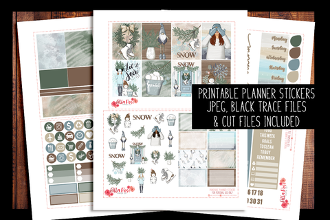 Let It Snow Happy Planner Kit | PRINTABLE PLANNER STICKERS