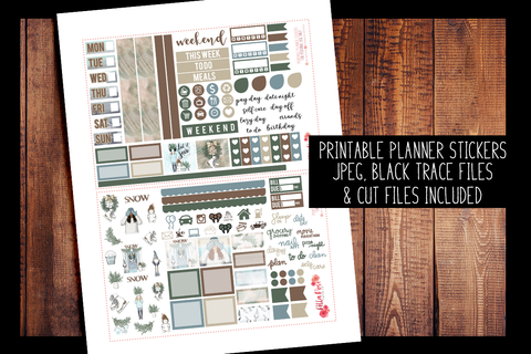 Let It Snow Hobonichi Weeks Kit | PRINTABLE PLANNER STICKERS
