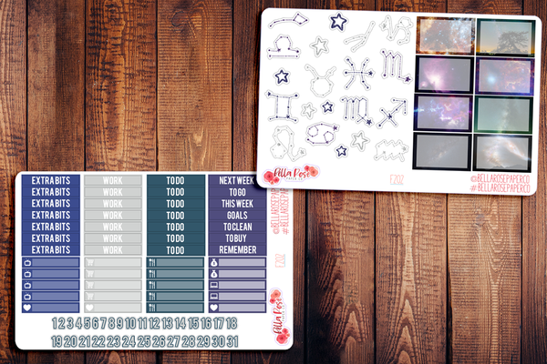 Under The Stars Planner Sticker Kit F202