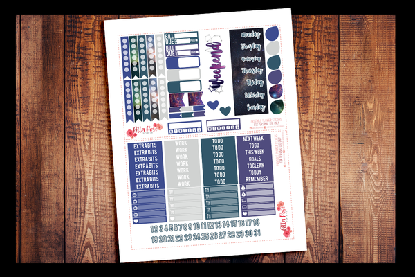 Under The Stars Planner Kit | PRINTABLE PLANNER STICKERS