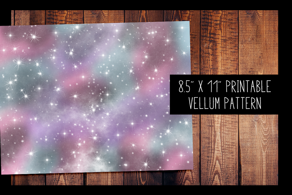 photo about Printable Vellum known as Galaxy Vellum PRINTABLE VELLUM Habit
