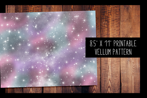 Galaxy Vellum | PRINTABLE VELLUM PATTERN