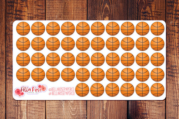 Basketball, Baseball, Soccer Planner Stickers