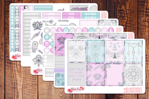 Spring Boho Planner Sticker Kit