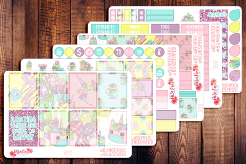 Spring Unicorn Planner Sticker Kit SP012
