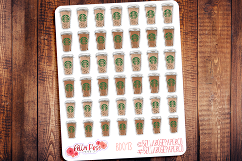 Starbucks Inspired Coffee Cup Planner Stickers BD013