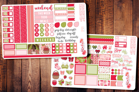 Strawberry Dreams Hobonichi Weeks Sticker Kit SP404