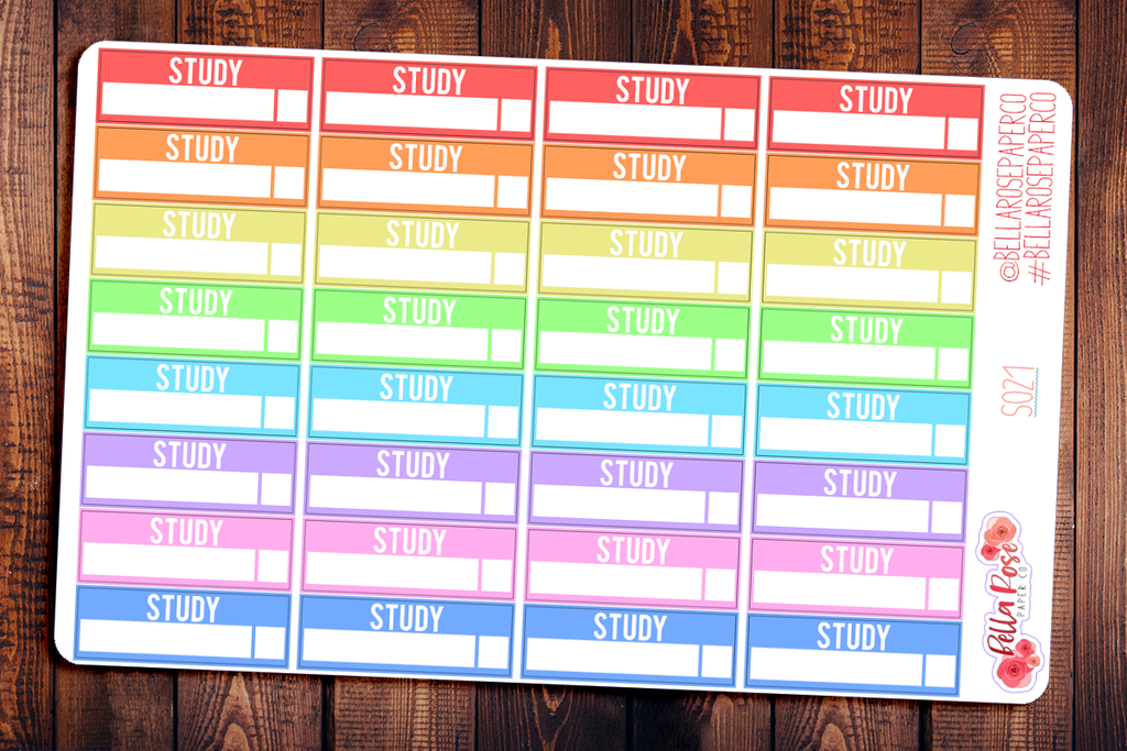 Study Box Student Planner Stickers S021