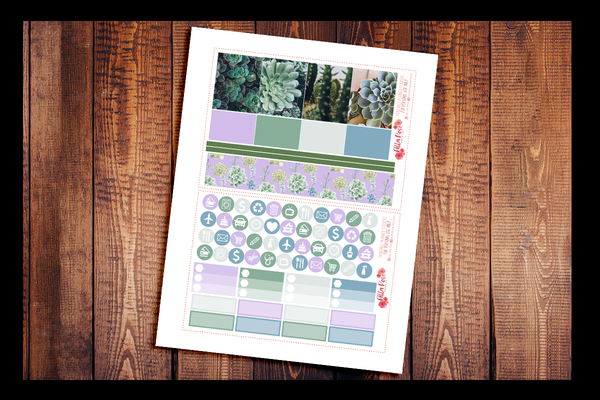 Succulent Photography Happy Planner Kit | PRINTABLE PLANNER STICKERS