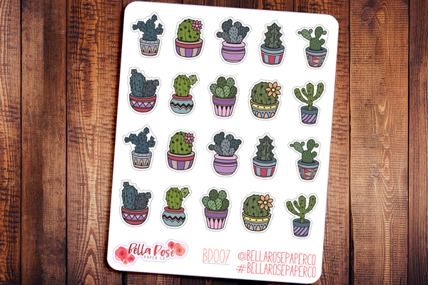 Succulents Deco Planner Stickers BD007