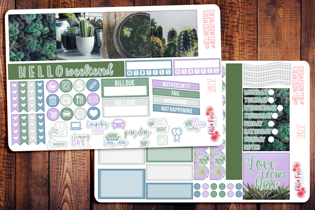 Succulent Photography Mini Happy Planner Sticker Kit SM017
