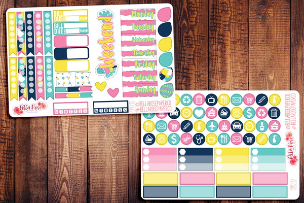 Summer Vibes Planner Sticker Kit SM010