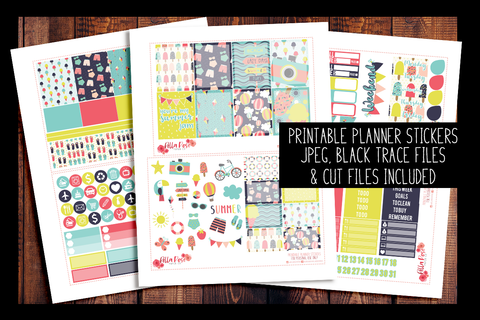 Summer Jam Kit | PRINTABLE PLANNER STICKERS