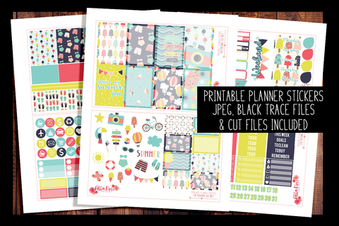 Summer Jam Happy Planner Kit | PRINTABLE PLANNER STICKERS