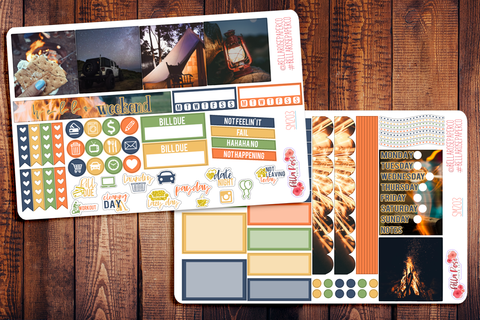 Summer Nights Photo Mini Happy Planner Sticker Kit SM203