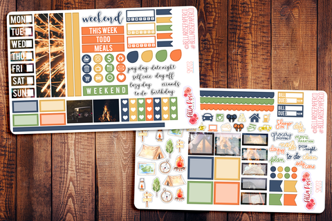 Summer Nights Photo Hobonichi Weeks Sticker Kit SM203