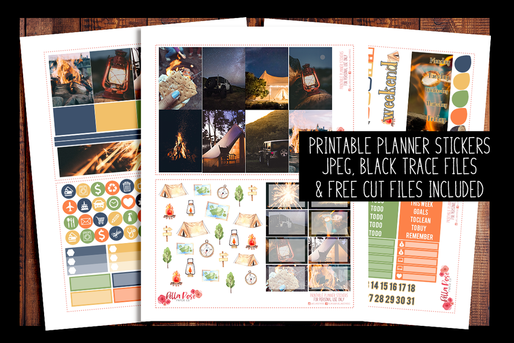 Summer Nights Photo Happy Planner Kit | PRINTABLE PLANNER STICKERS