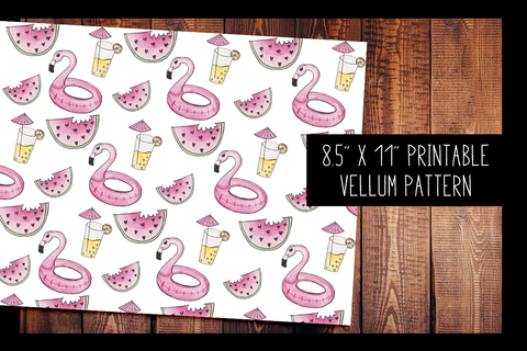 Hand Painted Summer Watercolor Vellum | PRINTABLE VELLUM PATTERN