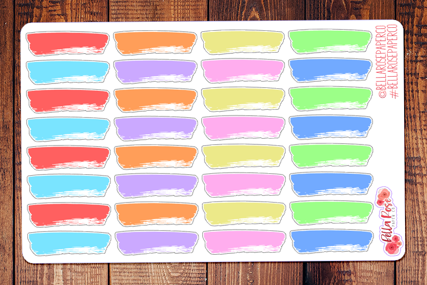 Paint Swatches Planner Stickers