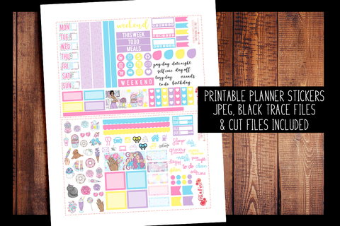 Sweet Summer Hobonichi Weeks Kit | PRINTABLE PLANNER STICKERS