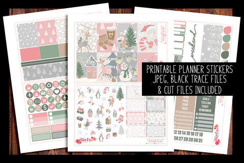 Sweet Holidays Happy Planner Kit | PRINTABLE PLANNER STICKERS
