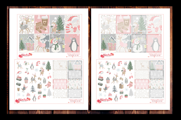 Sweet Holidays Planner Kit | PRINTABLE PLANNER STICKERS