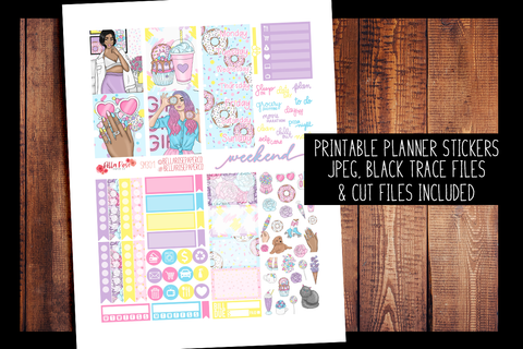 Sweet Summer Mini Planner Kit | PRINTABLE PLANNER STICKERS