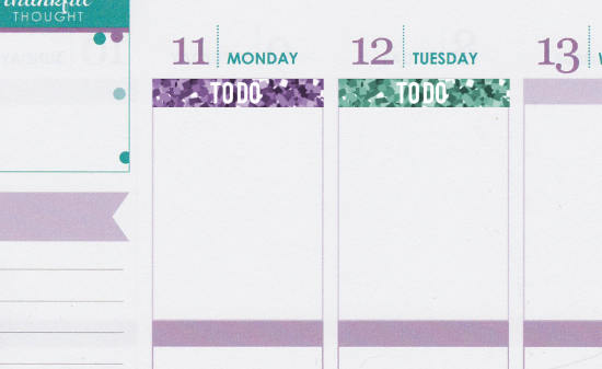 Glitter To Do Header Planner Stickers