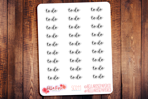 To Do Planner Stickers SC011