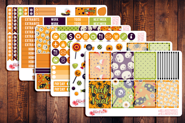 Trick or Treat Planner Sticker Kit F005