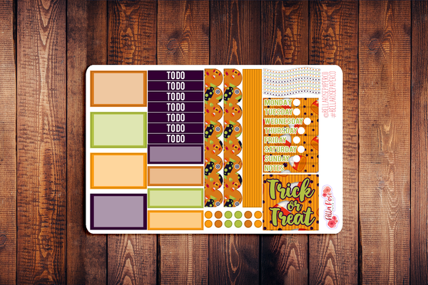Trick or Treat Mini Happy Planner Sticker Kit F005