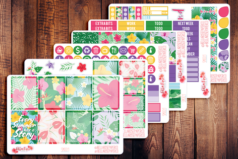 Tropical Vibes Planner Sticker Kit SM001