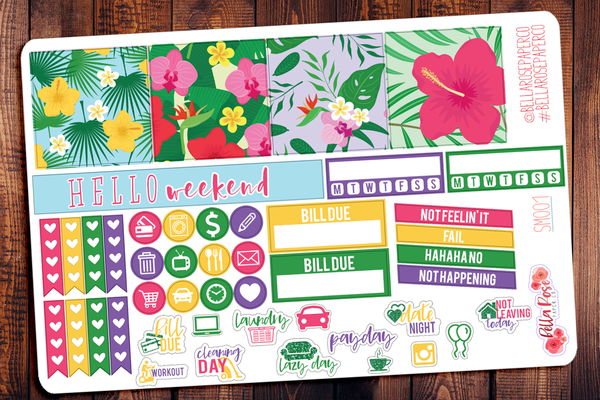 Tropical Vibes Mini Happy Planner Sticker Kit SM001