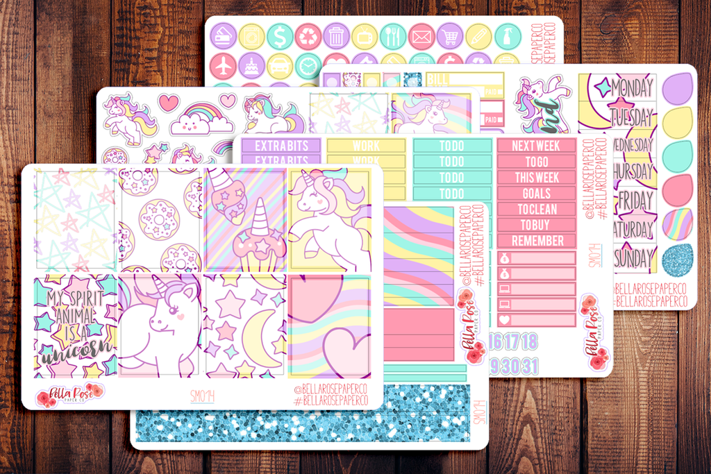 Unicorn Planner Sticker Kit SM014