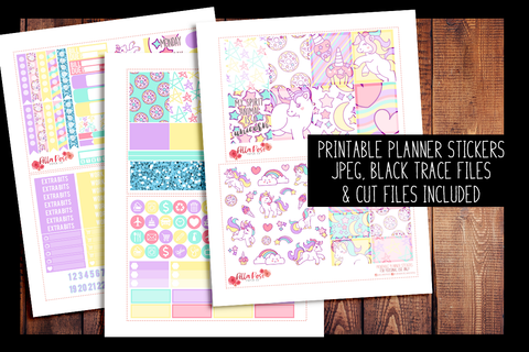 Unicorn Kit | PRINTABLE PLANNER STICKERS