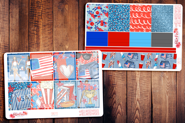 American Pastime/ July 4th Planner Sticker Kit SM011