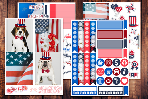 4th Of July Photo Mini Sticker Kit SP405