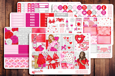 Valentine's Day Planner Sticker Kit SP301