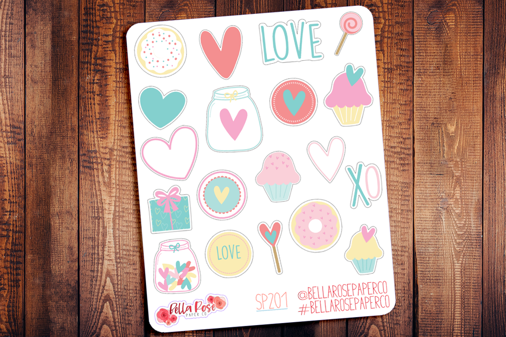 Sweet Love Decorative Planner Stickers SP201