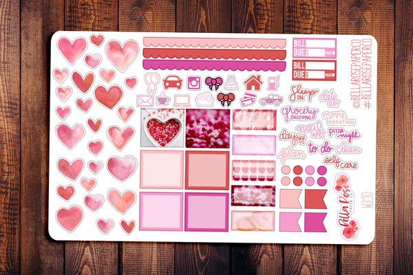 Valentine's Day Photo Hobonichi Weeks Sticker Kit W310