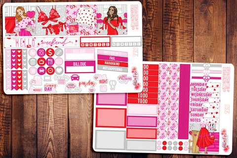Valentine's Day Mini Happy Planner Sticker Kit SP301